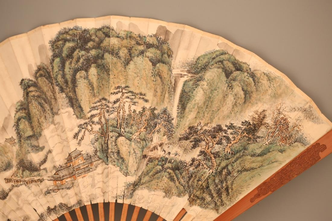 A Chinese Painting on Folding Fan - 4
