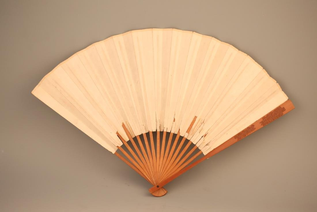 A Chinese Painting on Folding Fan - 5