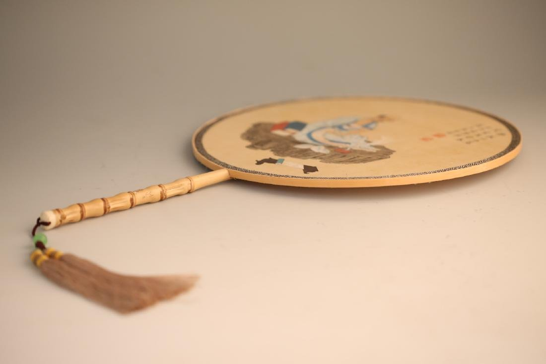 A Chinese Painting on Round Fan - 8