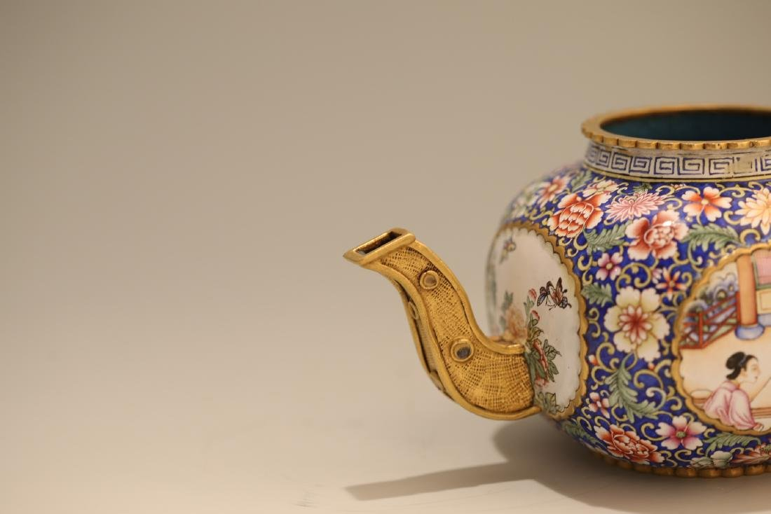 A Chinese Enamel Porcelain Tea Pot - 7