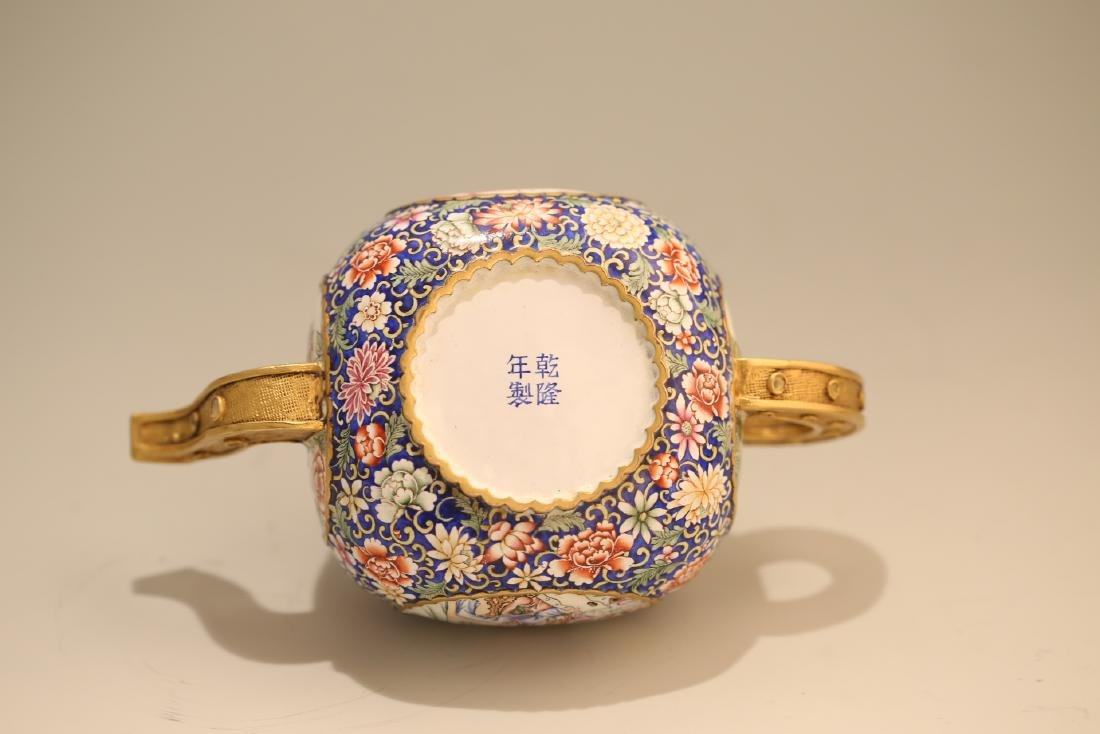A Chinese Enamel Porcelain Tea Pot - 8