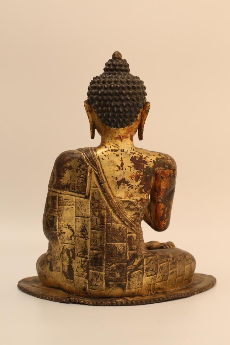 A Chinese Gilt Bronze Buddha - 4