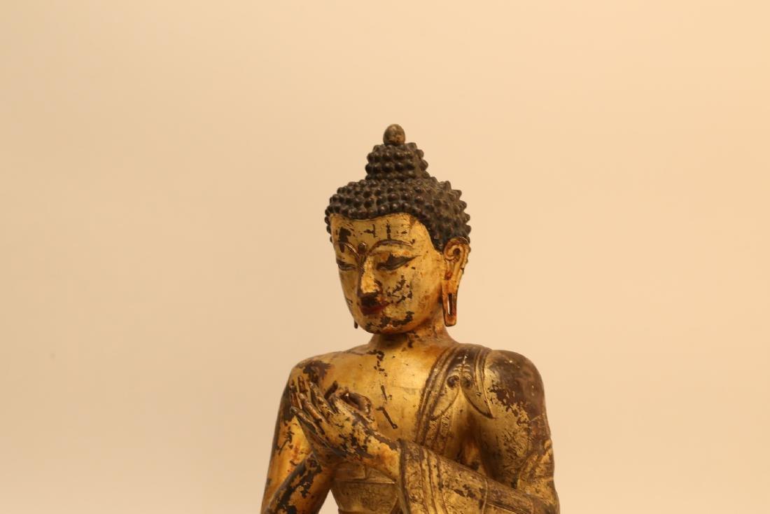 A Chinese Gilt Bronze Buddha - 6