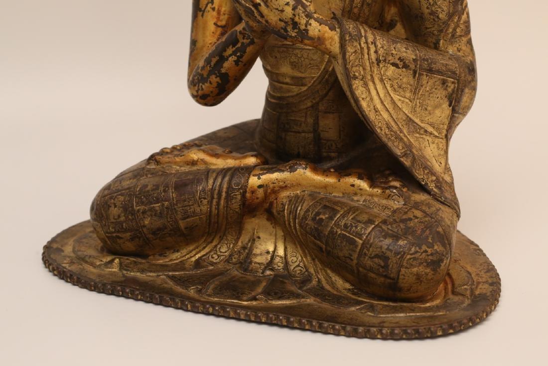 A Chinese Gilt Bronze Buddha - 7