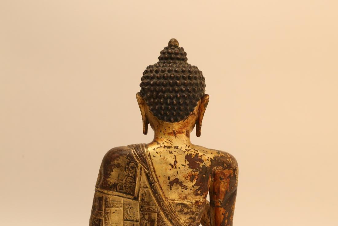 A Chinese Gilt Bronze Buddha - 8