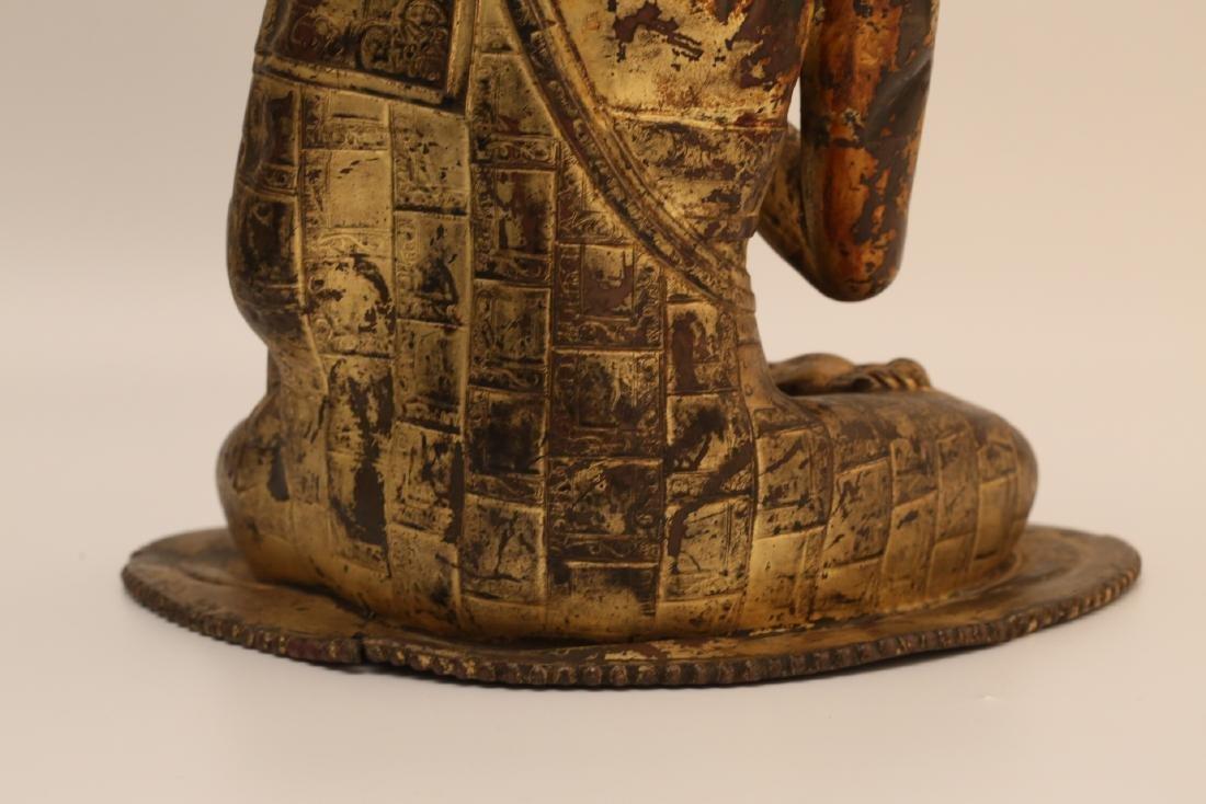 A Chinese Gilt Bronze Buddha - 9