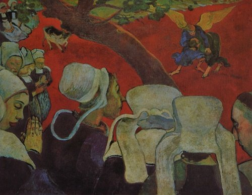 Paul Gauguin - The Vision After The Sermon Jacob and