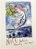 Marc Chagall - Nice Soeil Fleurs