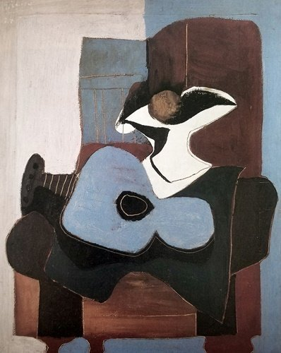 After Pablo Picasso -  Still Life With Blue Guitar