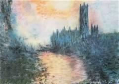 Claude Monet - Parliament In Sunset