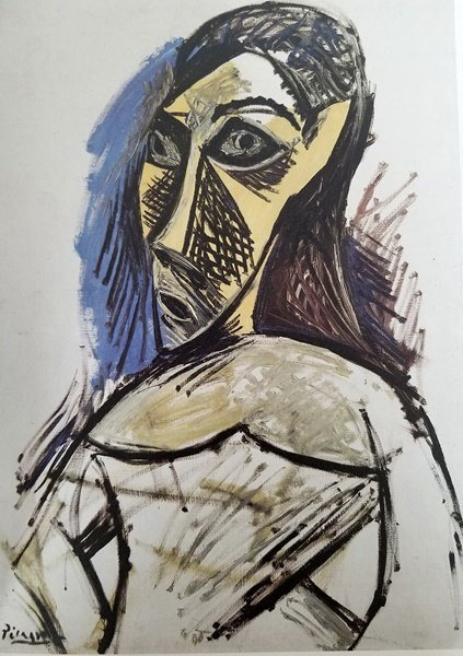 After Pablo Picasso - Female Nude