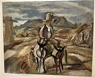 Jules Pascin Old Mexican Peasant