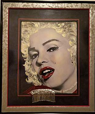 Marilyn Monroe Original Mixed Media