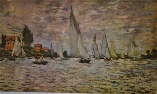 Monet REGATTA ON THE SEINE AT ARGENTEUIL