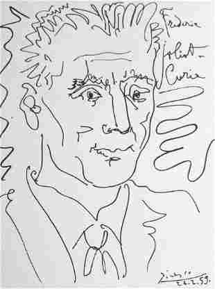 Picasso Frederic JoliotCurie After