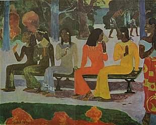 Paul Gauguin The Market TA Matete