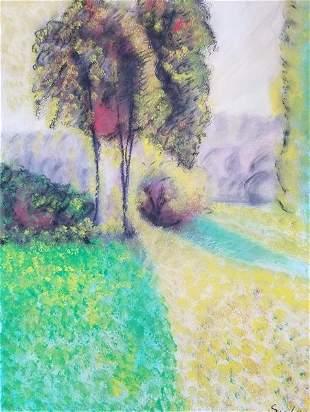Alfred Sisley A Village Street Winter