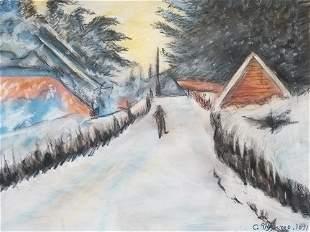 Camille Pissarro Entrance To The Village
