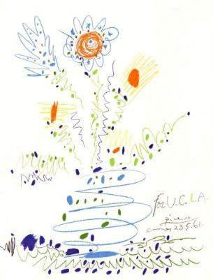Picasso Le Bouquet De Fleurs 2 After