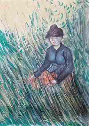 Camille Pissarro The Hay Harvester