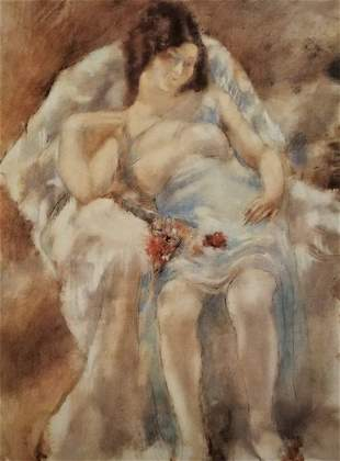 Jules Pascin Young Girl Seated