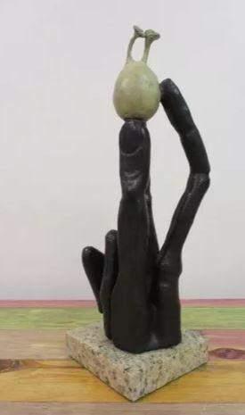 Bronze Sculpture Fingers By Salvador Dali