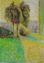 Alfred Sisley - A Village Street Winter