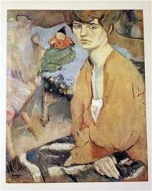 Jules Pascin Portrait Of Woman