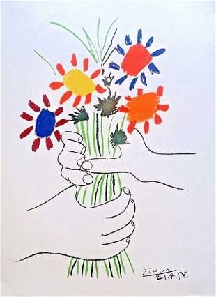 Picasso Le Bouquet De Fleurs After