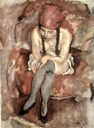 Jules Pascin Caludine Resting