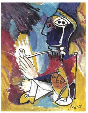 Pablo Picasso After Man with Pipe Litho