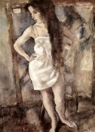Jules Pascin Standing Young Girl