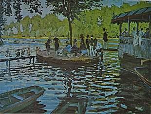 Monet LA GRENOUILLERE After