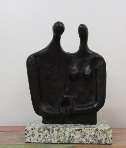 Bronze Sculpture Fathers And Son Of Henry Moore