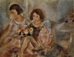 Jules Pascin Three Girls