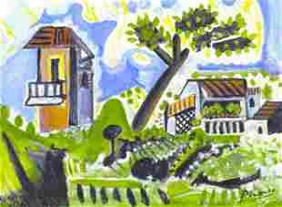 Pablo Picasso SignedHandNumber Ltd Ed Paysage de
