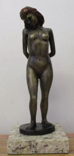 Bronze Sculpture Nude Woman Leo Mol