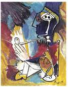"""Pablo Picasso """"After"""" """"Man with Pipe"""" Litho"""
