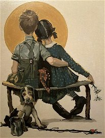 Norman Rockwell - Boy and Girl
