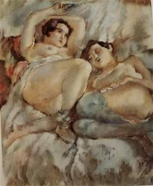 Jules Pascin Two Girl In Bed
