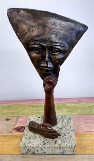 Bronze Sculpture Thinking Bronze Sculpture By Sergio