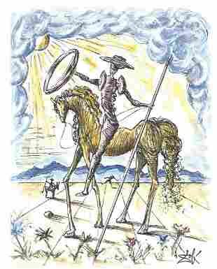 Dali SignedHandNumbered Ltd Ed Don Quixote Litho