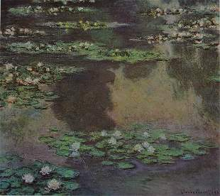 Monet WATER LILIES GIVERNY After