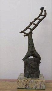 sculpture In Bronze Construction Ii By Joan Miro