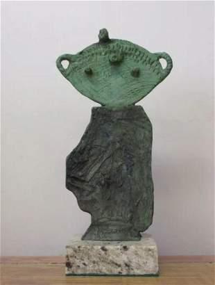 Bronze Sculpture Green Man Joan Miro