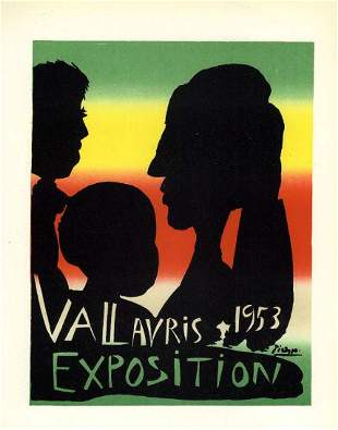 Picasso 1953 Exposition Vallauris After
