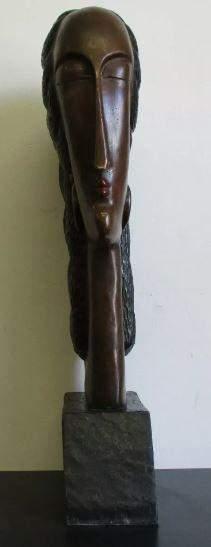 Bronze sculpture Femme by Amedeo Modigliani