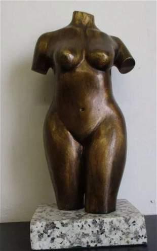 Bronze Sculpture Torso De Aristide Maillol Woman