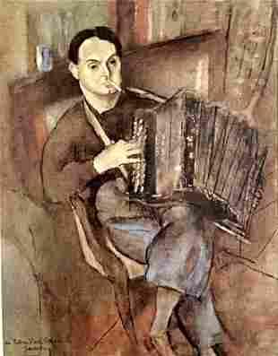 Jules Pascin - Portrait Of Pierre Mac Orlan