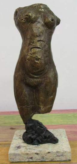Bronze Sculpture Torso Marino Marini